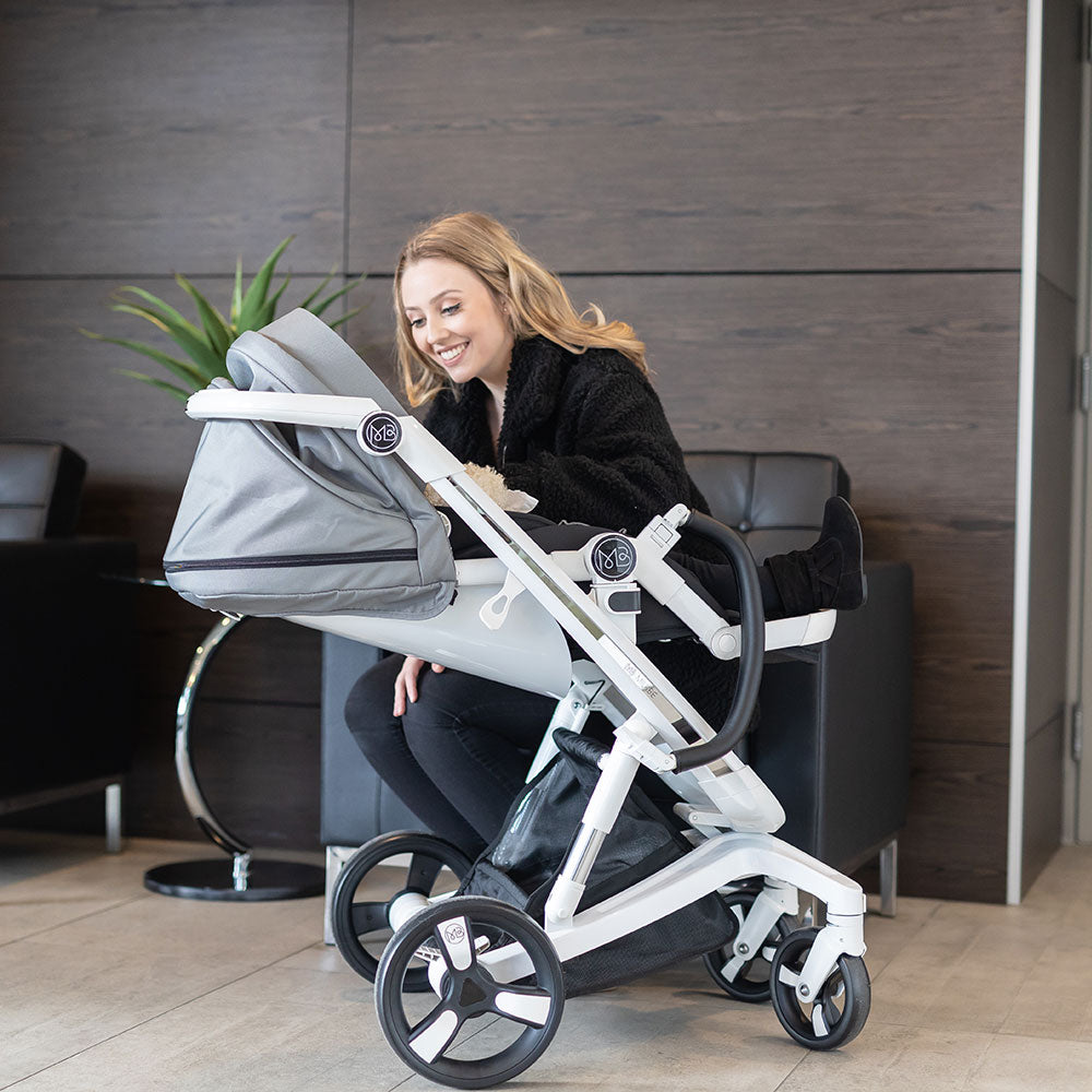 Gray Milkbe Smart Self-Stopping Stroller