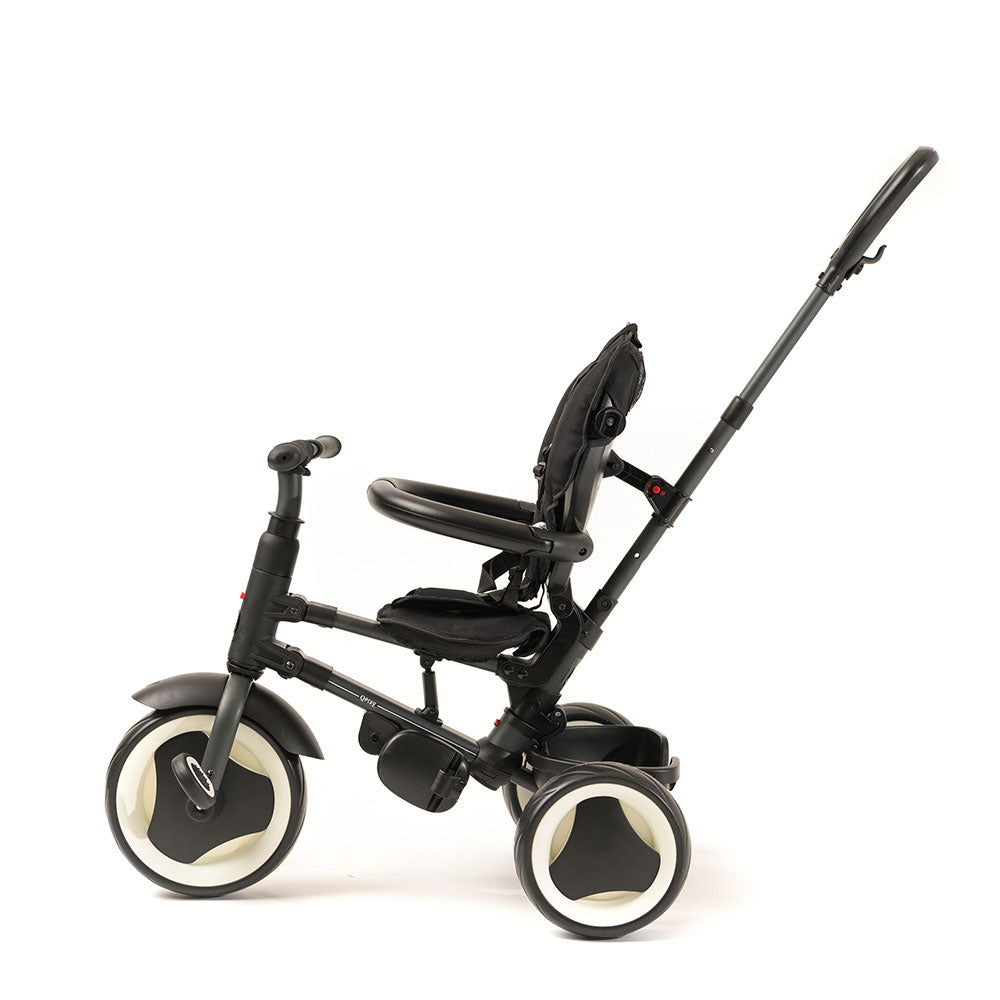 Black Rito Ultimate Folding Trike with push handle