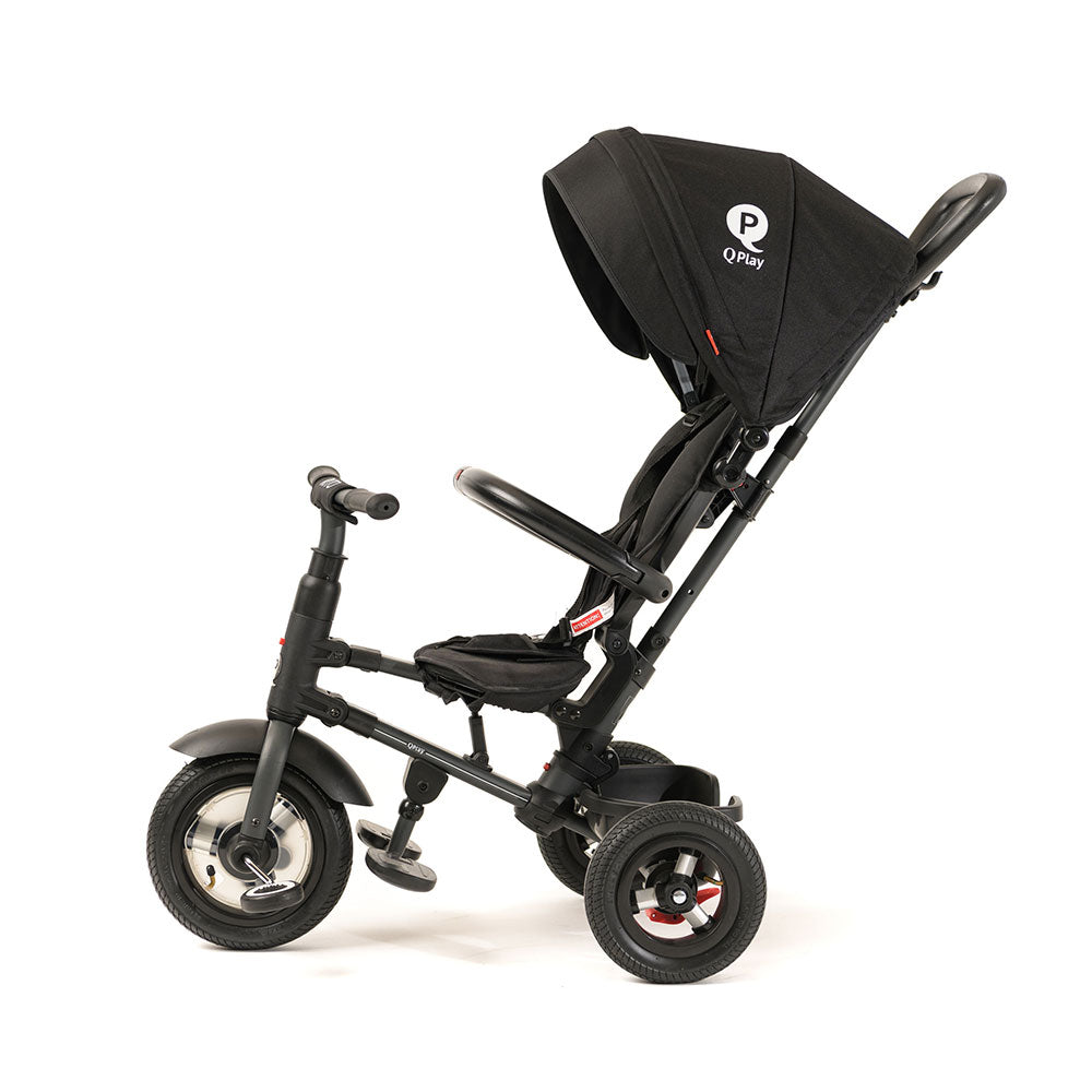 Black Rito Plus Ultimate Folding Trike with push handle