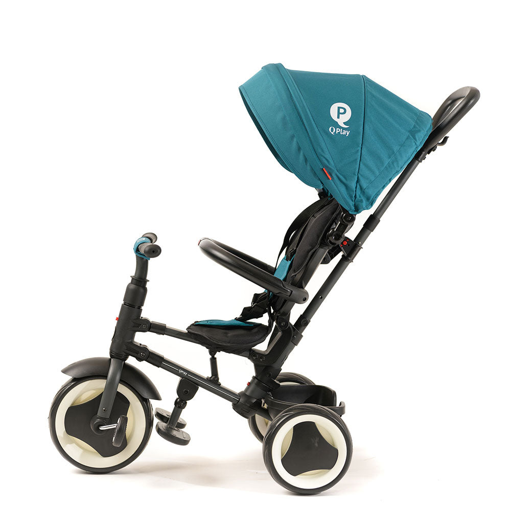 Teal Rito Ultimate Folding Trike with push handle