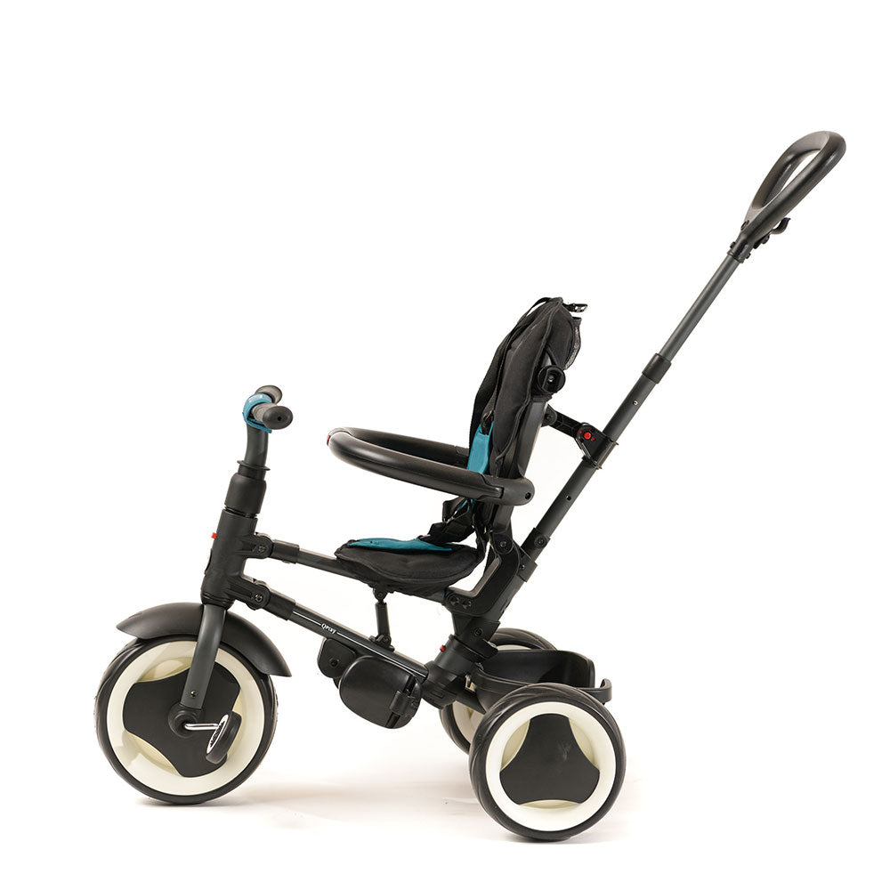 Teal Rito Ultimate Folding Trike for Kids with push handle