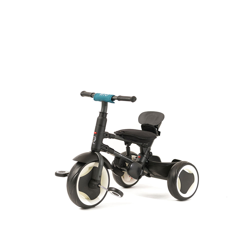 Compact Teal Rito Ultimate Folding Trike for Kids