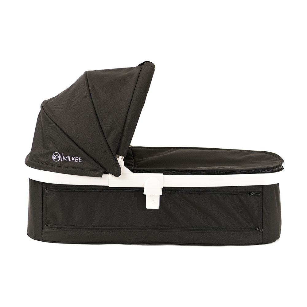 Black Milkbe Carry Cot - Luxury Milkbe Stroller