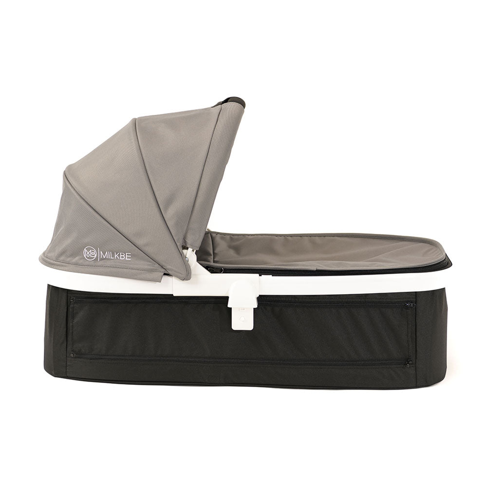 Gray Milkbe Carry Cot for Luxury Milkbe Stroller