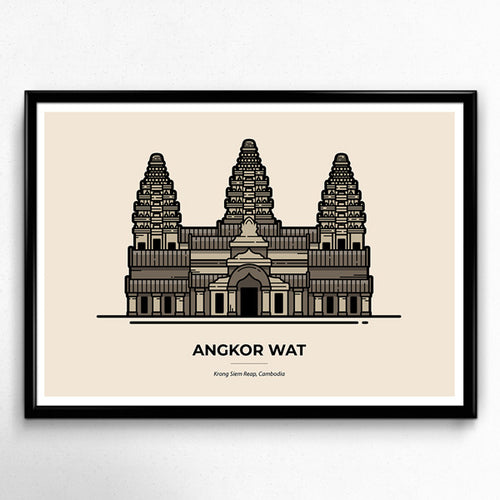 Angkor Wat Temple - Cambodia Travel poster by Christine Wilde at Vault 84