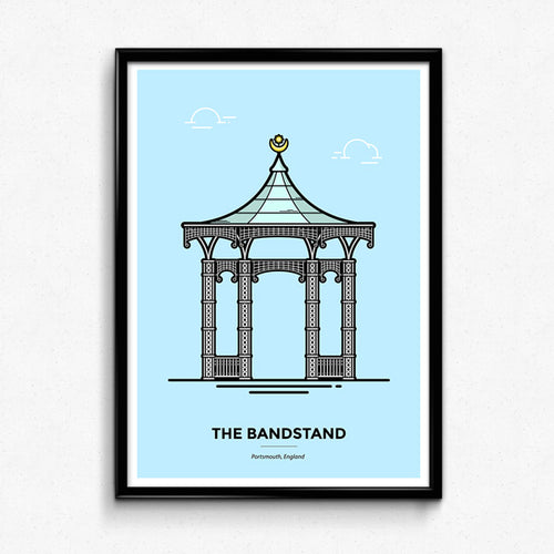 Portsmouth Bandstand travel poster by Christine Wilde at Vault 84