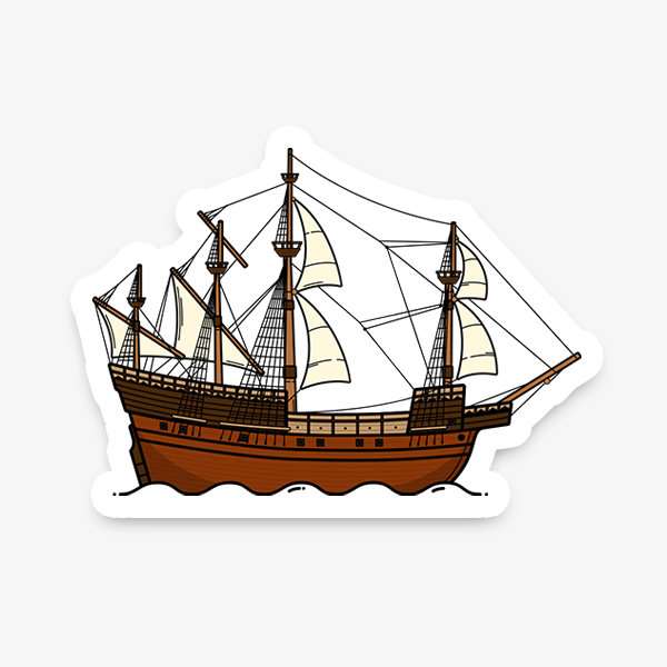 The Mary Rose die-cut vinyl sticker designed by Christine Wilde at Vault 84