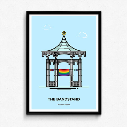 Limited Edition Pride Bandstand Portsmouth Travel Poster by Christine Wilde at Vault 84