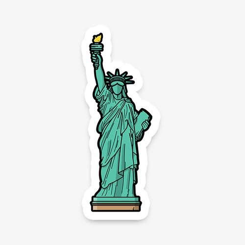 New York Statue of Liberty die-cut vinyl sticker by Vault 84