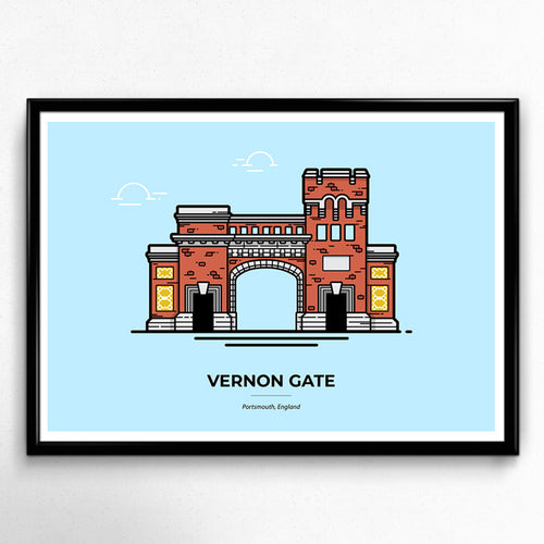 Vernon Gate Portsmouth Travel poster designed by Christine Wilde at Vault 84