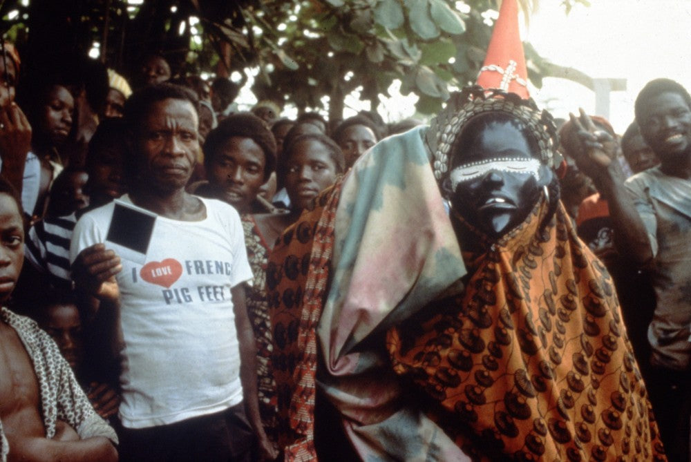 Korto (deangle mask), Dan artist, Liberia. February 1986. Photo by William Siegmann.