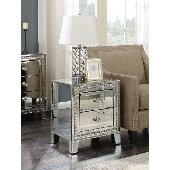 Lucus 2 Drawer Lamp Table