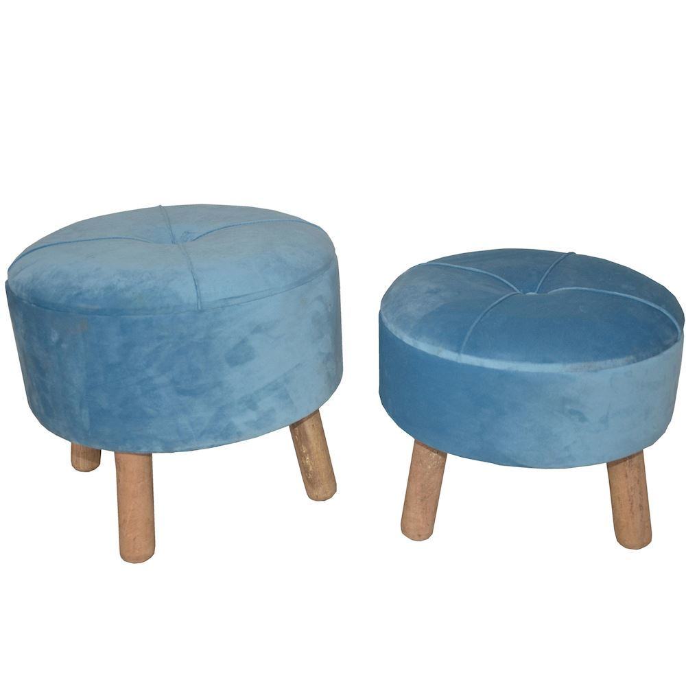 Set Of 2 Stools With storage