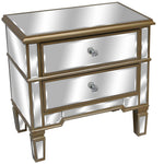 Regina Mirrored 2 Drawer Low Chest