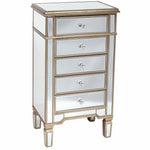 Regina 5 Drawer Mirrored Tallboy