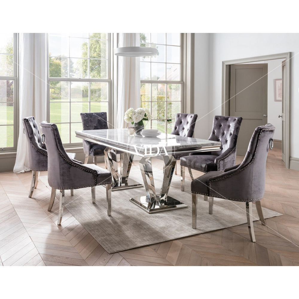 Donnelly Dining Table - Grey 1800