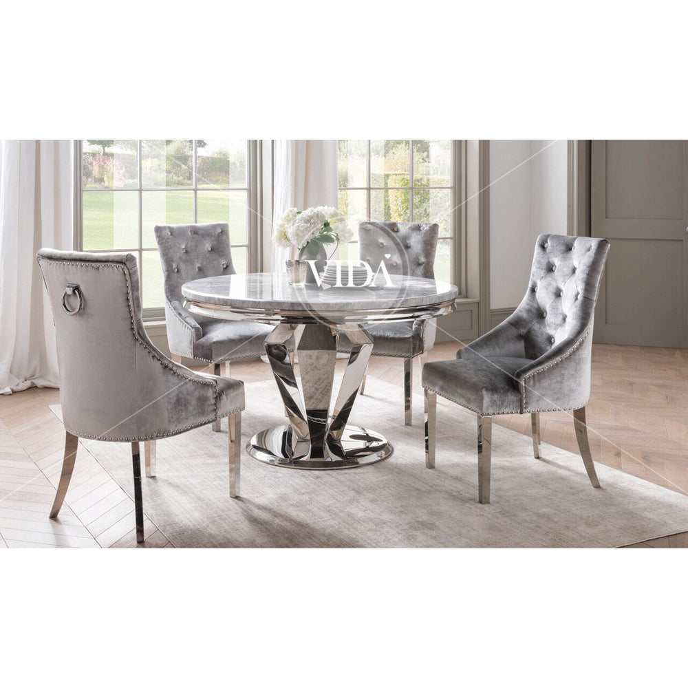 Donnelly Round Dining Table - Grey 1300