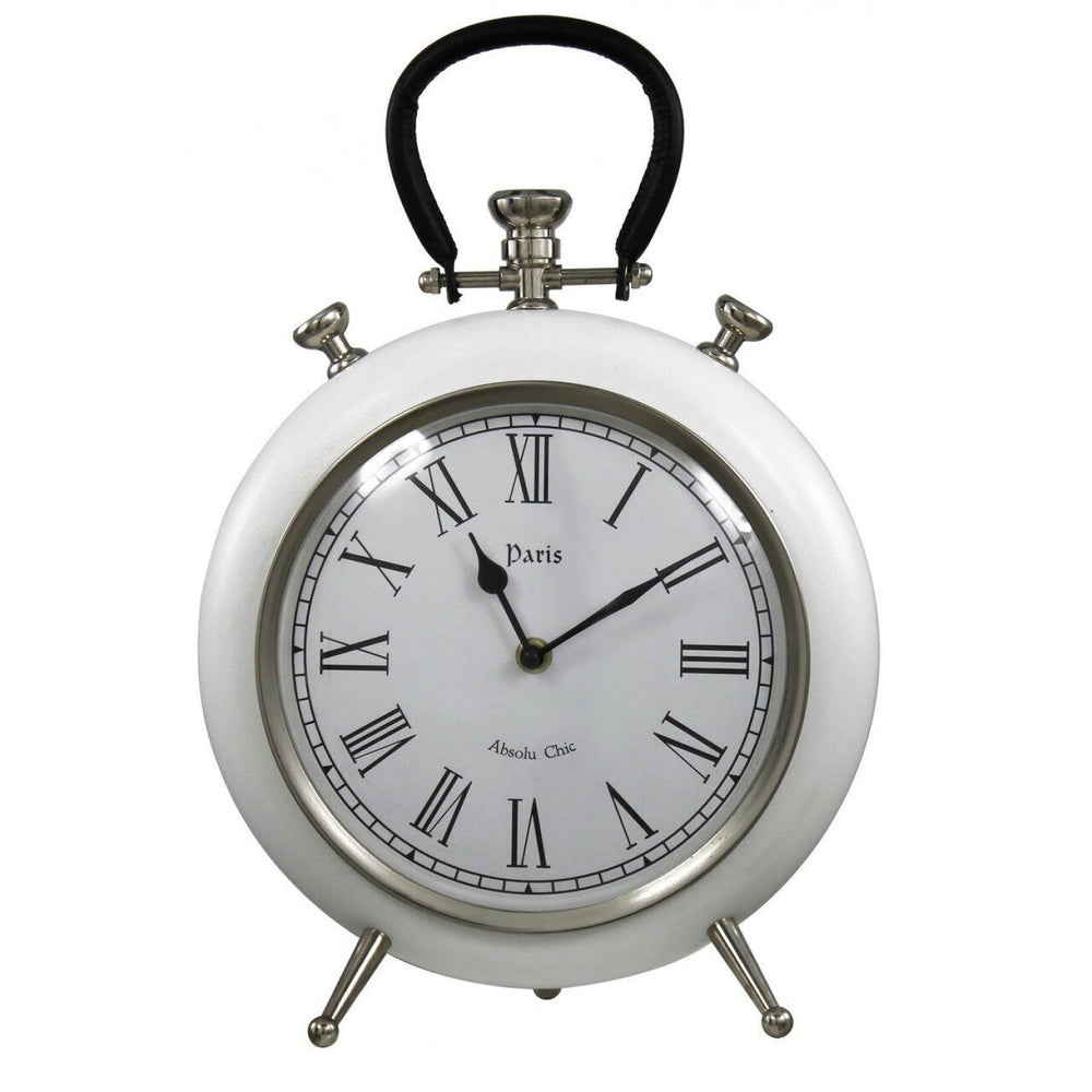 White Round Table Clock