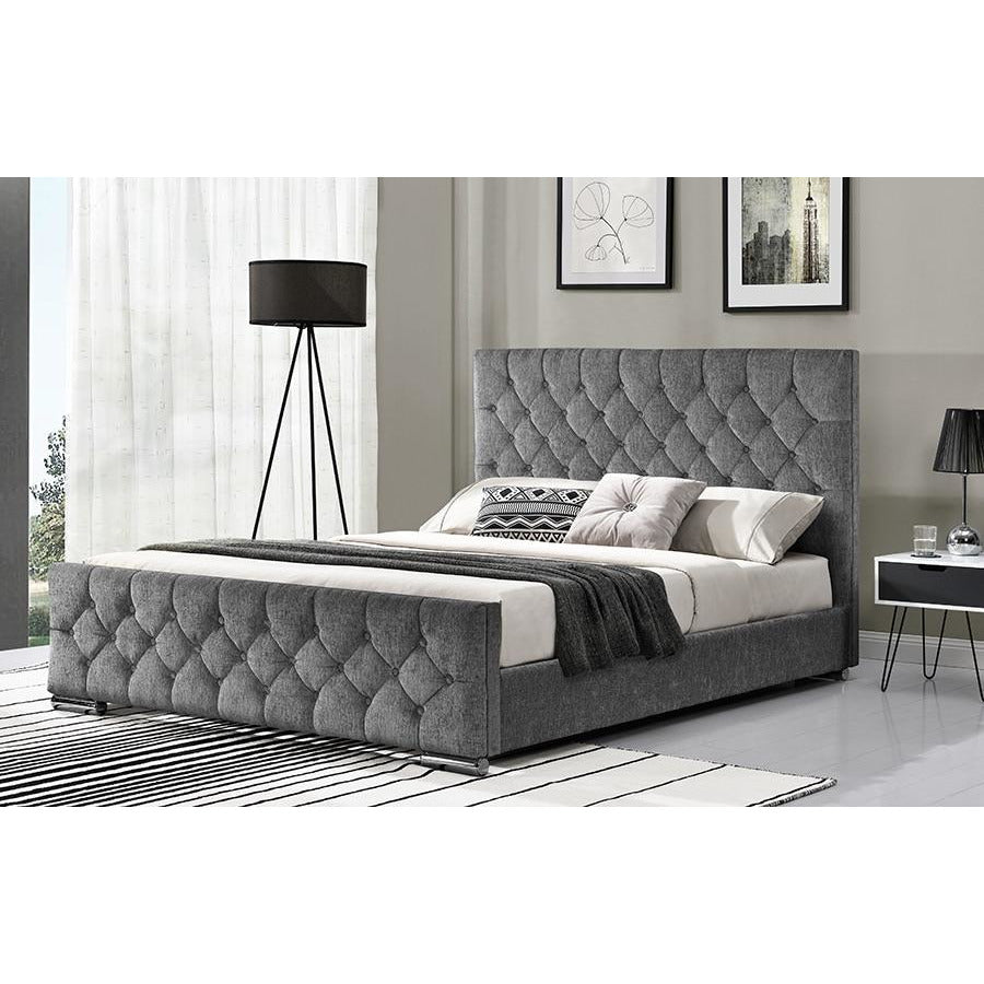 Karmen Fabric Super King Bed (2 Colours Available)