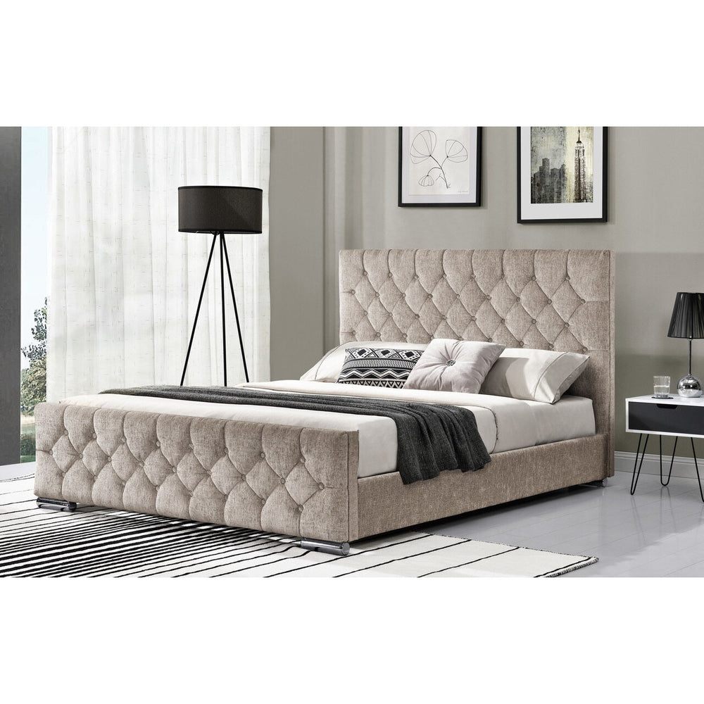 Karmen Fabric King Bed (2 Colours Available)