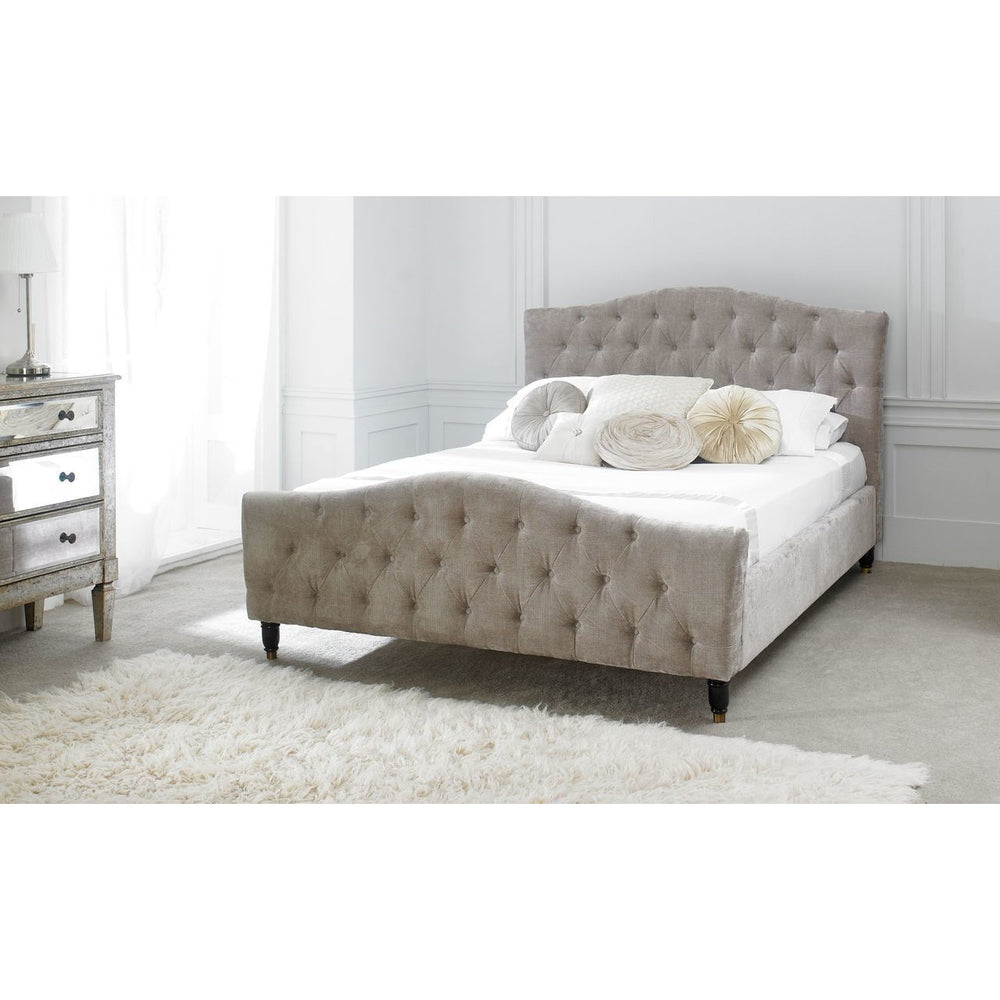 Patrica Double Bed (Mink Velvet)