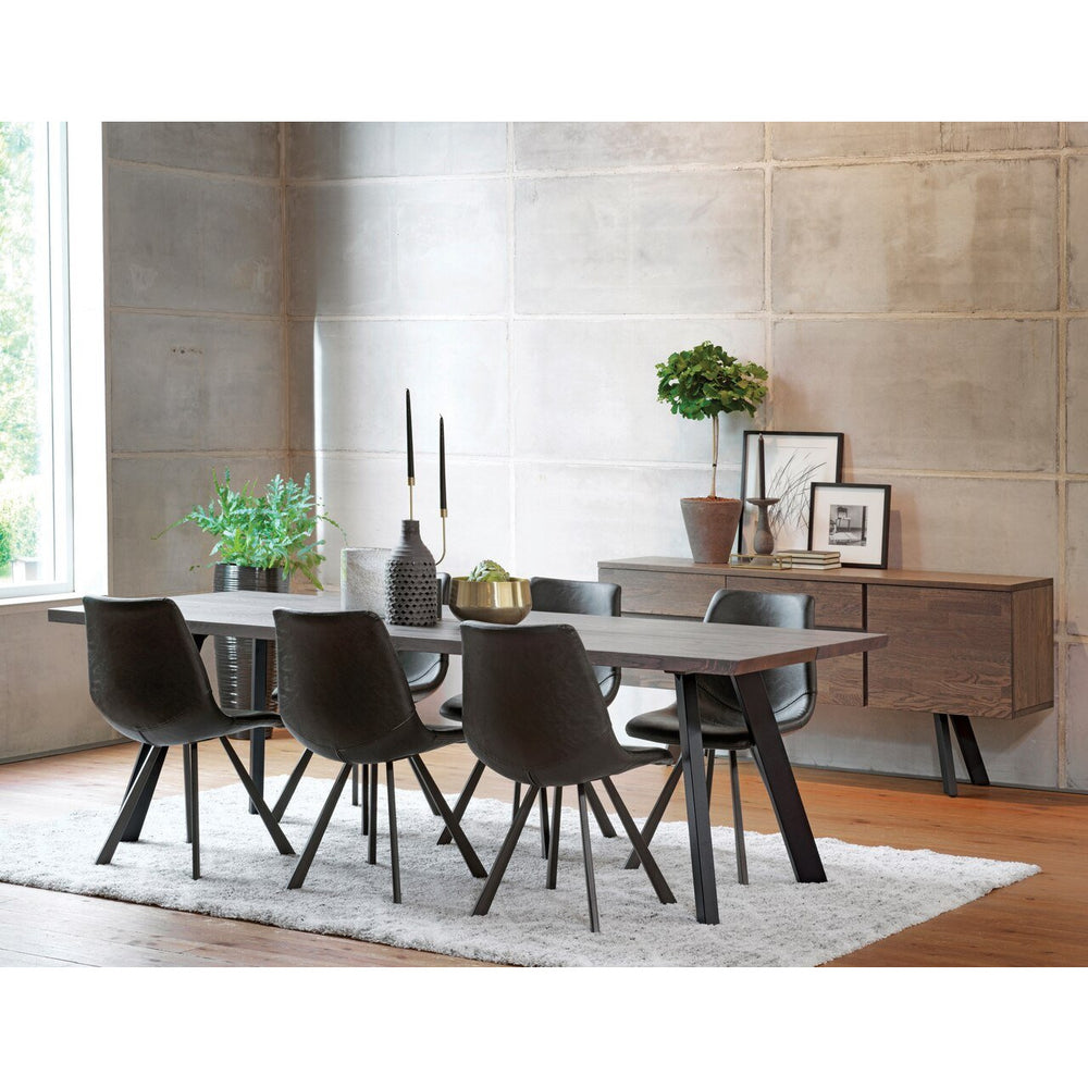 Troy 2.4m Dark Dining Table