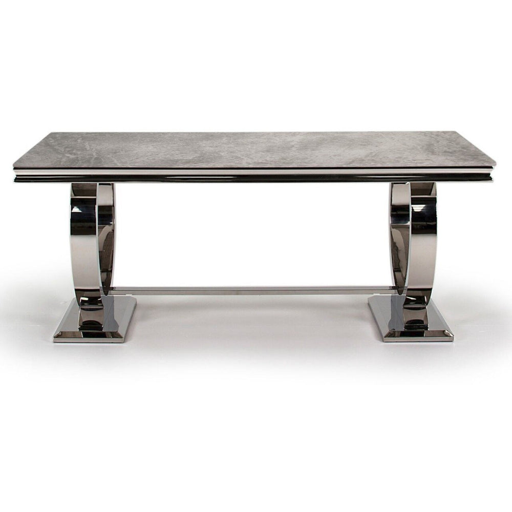 Delaware Grey Marble Dining Table - 200cm