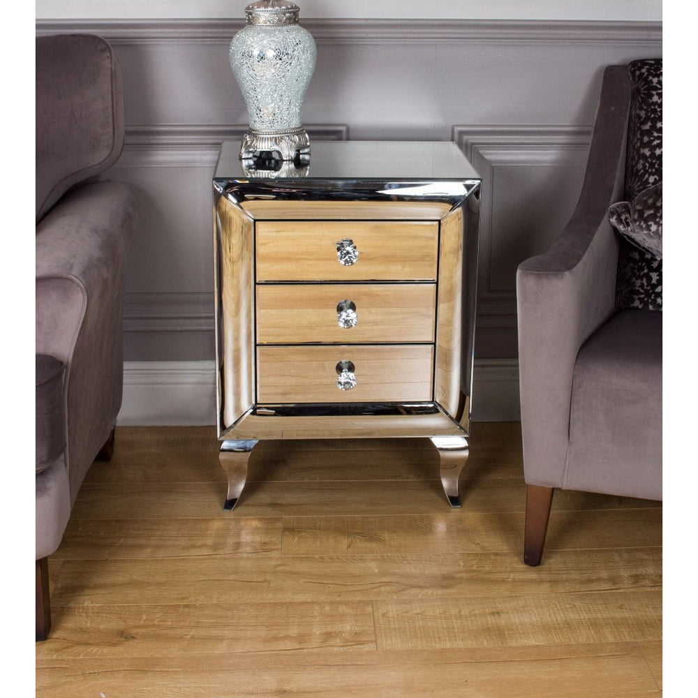 Monty 3 Drawer Side Table