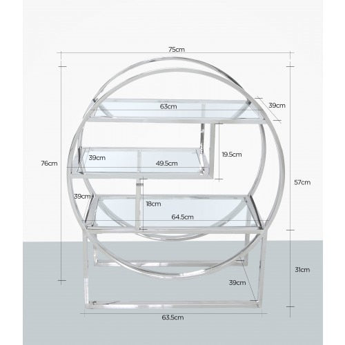 Lucas Steel Tier Round Shelving Unit