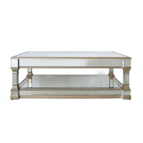 Champagne Athena Mirror Coffee Table