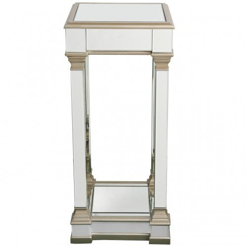 Large Champagne Athena Mirror Telephone Table