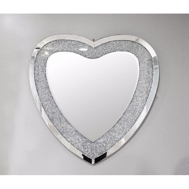 Reflect Crackle Heart Mirror