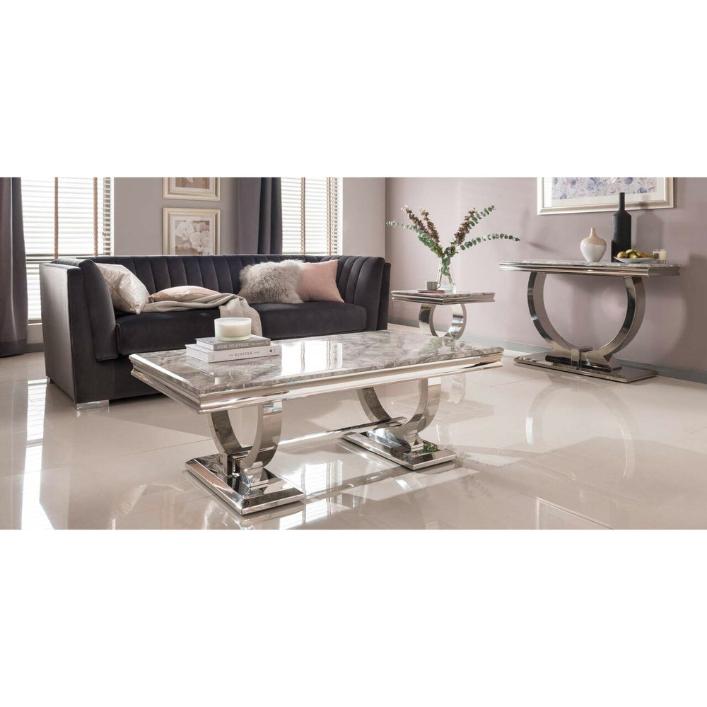 Delaware Grey Marble Coffee Table
