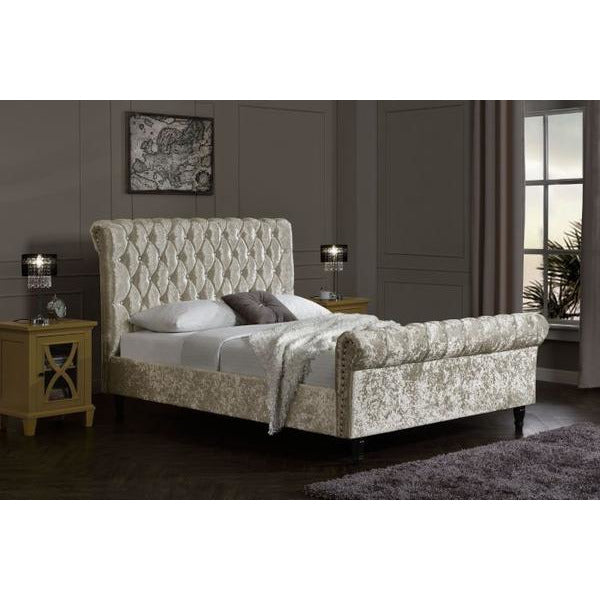 Logan Chesterfield Velvet Bed