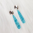 Blue Waves Acrylic Bar Drop Earrings