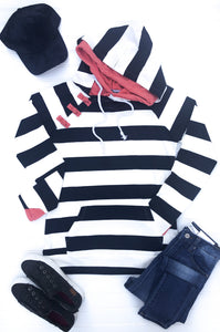Bold Navy Stripes