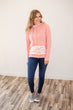 Pretty in Pink Lace Accented Hoodie