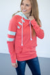 Coral and Mint Summer Varsity Hoodie