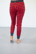 Buffalo Plaid and Polka Joggers