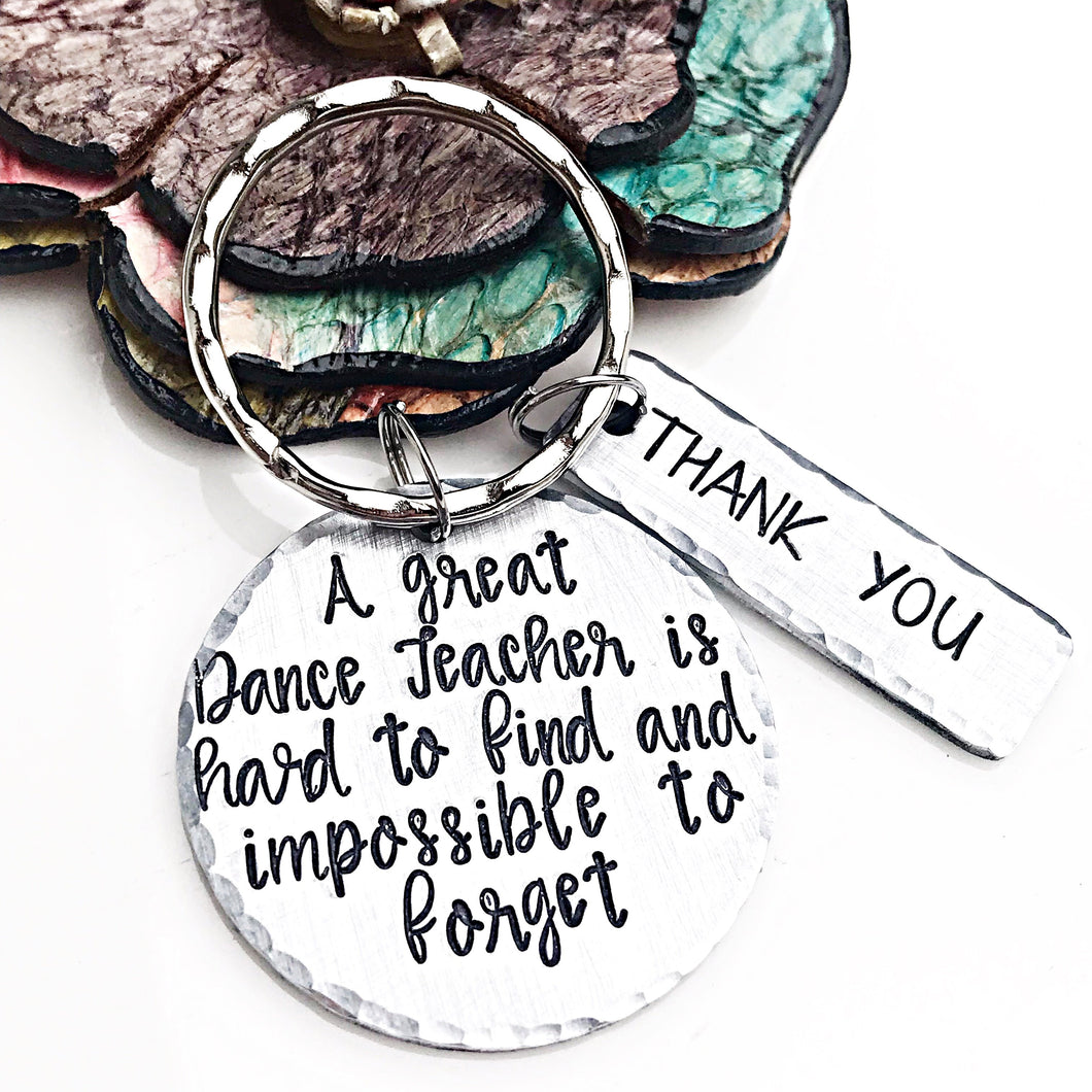 Dance Teacher Recital Keychain - End of season Gift - Lasting Impressions CT