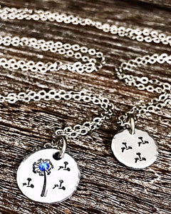 Dandelion Mother Daughter Necklace Set - Mother's Day Necklace, Gifts for Mom from Daughter - Lasting Impressions CT
