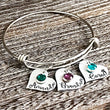 Name Charm Bracelet for Mom, Step Mom, Grandma, Mother in Law, Mother's Day Bracelet, Personalized Charm Bracelets - Lasting Impressions CT