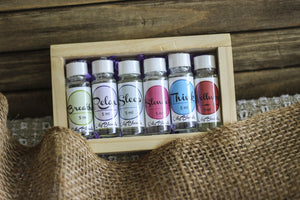 Essential Oil Set With Wood Box
