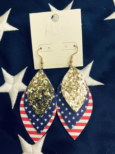 Patriot Glitter Earrings