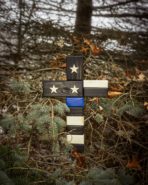 Thin Blue line Cross