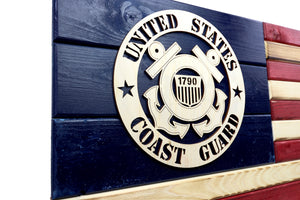 Coast Guard Wooden Flag