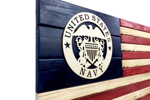 Navy Wooden Flag