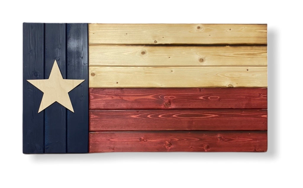 Wooden Texas Flag