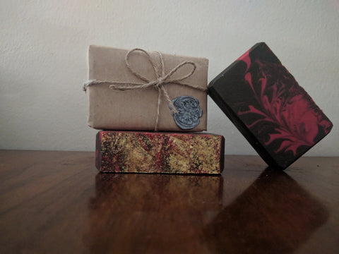 Chocolate and Strawberry Decadence Artisan Soap | All The Way Handmade | Handmade Soap | Artisan Soap | Small Business