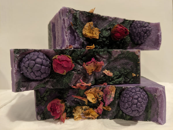 Blackberry & Rose Jam Artisan Soap | All The Way Handmade | Handmade Soap | Artisan Soap | Small Business